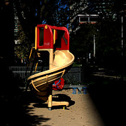 Slide Photo Prints - Childrens Playground Print by Andrew Fare