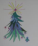 Christmas Mixed Media - Childs Blue Spruce by James SheppardIII