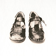 Unhygienic Framed Prints - Childs Worn Shoes Framed Print by Kevin Curtis