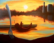 Italian Sunset Originals - Chile Gondola by Michael  Townsand