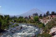 Tunnels Prints - Chili River in Arequipa Peru Print by Paul Pobiak