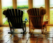 Rocking Chairs Photo Prints - Chillax Print by Nada Frazier