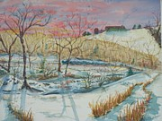 Cold Morning Sun Paintings - Chilly Morning by Barbara McGeachen