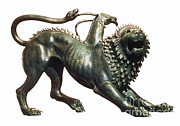 Greek Sculpture Prints - Chimera Of Arezzo, 400 B.c Print by Photo Researchers