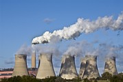 Unhygienic Prints - Chimney And Cooling Tower Print by Chris Knapton
