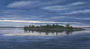 Waterscape Painting Posters - Chimney Island Poster by Richard De Wolfe