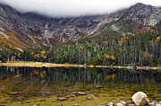 Baxter Park Posters - Chimney Pond during fall - Baxter State Park Maine Poster by Brendan Reals