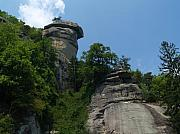 Chimney Rock North Carolina Posters - Chimney Rock State Park NC Poster by Anna Lisa Yoder