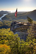 Chimney Rock North Carolina Framed Prints - Chimney Rock State Park North Carolina Framed Print by Dustin K Ryan