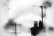Pole Prints - Chimney Stacks Print by David Ridley