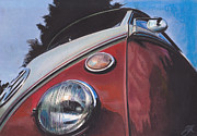 Volkswagen Pastels Prints - Chin Up Print by Sharon Poulton