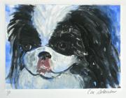 Canine Mixed Media Prints - Chin-Wow Print by Cori Solomon