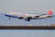 Landing Jet Prints - China Airlines Cargo Jet Airplane At San Francisco International Airport SFO . 7D12301 Print by Wingsdomain Art and Photography