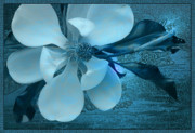 Mysterious Digital Art Originals - China Blue by Ron Morecraft