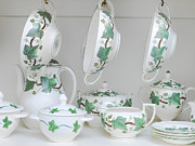 Teapot Posters - China Cabinet Poster by Adam Crowley