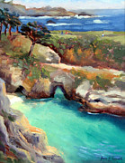 Big Sur Beach Originals - China Cove Point.Lobos by Karin  Leonard