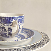 Interior Still Life Prints - China cup and plates Print by Lyn Randle