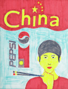 Pepsi Painting Posters - China Poster by Dick Eustice