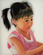 Girl Paintings - China Doll 2 by Joni McPherson
