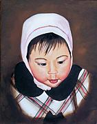 Girls Prints - China Doll Print by Joni McPherson