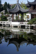 Urban Scenes Prints - China Garden Print by David Bearden