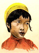 Asia Pastels - China Girl by Curt Simpson