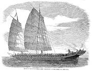 Pirate Ship Prints - China: Junk, 1857 Print by Granger