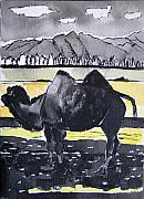 Desert Drawings Prints - China Silk Road Print by Lesley Giles