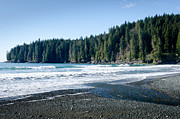 China Beach Metal Prints - CHINA SURF china beach juan de fuca provincial park BC canada Metal Print by Andy Smy