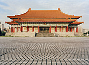 Memorial Hall Posters - China, Temple At Chiang Kai-shek Memorial Hall Poster by Eightfish