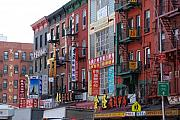 Nyc Fire Escapes Framed Prints - China Town Buildings Framed Print by Rob Hans