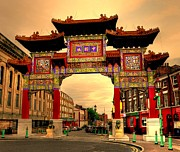 Liverpool Digital Art Prints - China Town Liverpool Print by Barry R Jones Jr