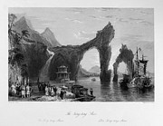 Boatman Framed Prints - China: Tungting Shan, 1843 Framed Print by Granger