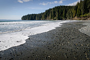 China Beach Prints - CHINA WAVE china beach juan de fuca provincial park vancouver island BC Print by Andy Smy