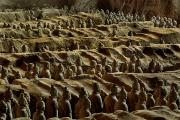 Xian Prints - Chinas Great Terracotta Army Is Seen Print by O. Louis Mazzatenta