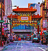 Philadelphia Digital Art Prints - Chinatown Arch Philadelphia Print by Bill Cannon