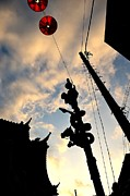 Japanese Lantern Prints - Chinatown at Sunset Print by Dean Harte