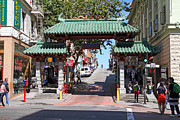Big Cities Framed Prints - Chinatown Gate on Grant Avenue in San Francisco Framed Print by Wingsdomain Art and Photography