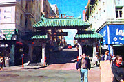 Downtowns Digital Art - Chinatown Gate . Photo Artwork by Wingsdomain Art and Photography