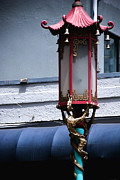 China Town Photo Metal Prints - Chinatown Lantern Metal Print by Anthony Citro