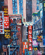 Bronx Paintings - Chinatown by Lauren Luna