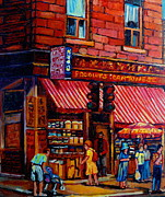 Sanfrancisco Paintings - Chinatown Montreal by Carole Spandau