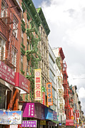 Sign Language Prints - Chinatown Signs And Facades, New York, Ny Print by Barry Winiker