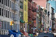 City Scape Digital Art Originals - Chinatown Walk Ups by Rob Hans