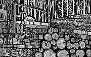 Machinery Drawings Originals - Chinchillia Timbers by Jacqui Douglas