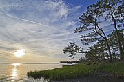 Maryland Photo Metal Prints - Chincoteague Bay Sunset Metal Print by Brendan Reals