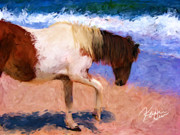 Chincoteague Framed Prints - Chincoteague Pony Framed Print by Karen Derrico