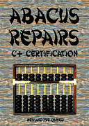 Kids Sports Art Digital Art Posters - Chinese Abacus Repair Shop Sign Poster by Bruce Iorio