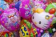 Hello Kitty Posters - Chinese Balloons Poster by Michele Burgess