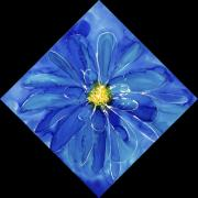 Blue Tapestries - Textiles Posters - Chinese Chrysanthemum Poster by Joanna White